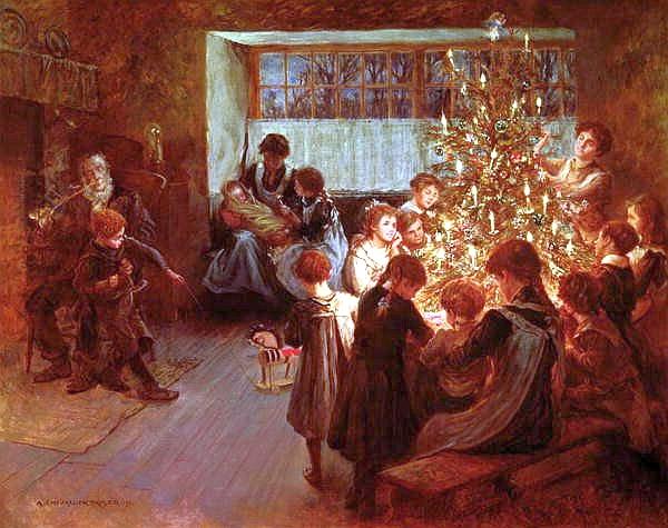 Albert Chevallier Tayler - The Christmas Tree (1911)