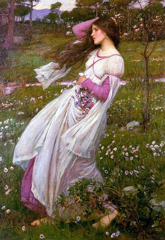 John William Waterhouse - Windflowers (1903)