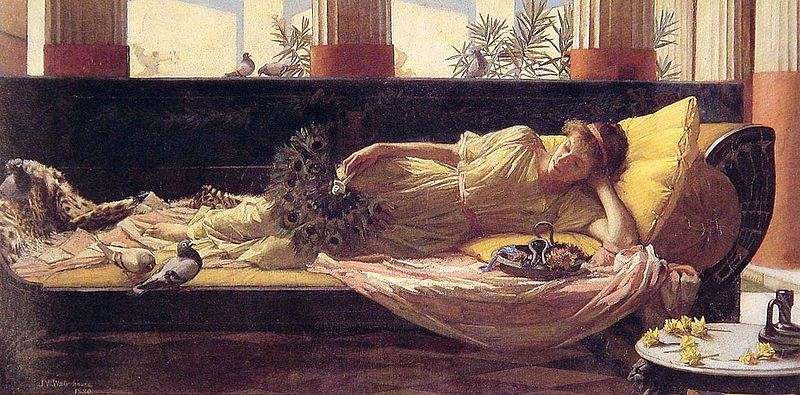 Dolce far Niente by John William Waterhouse (1880)