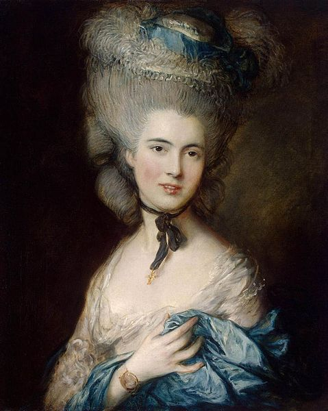 Lady In Blue by Thomas Gainsborough (c. 1780)