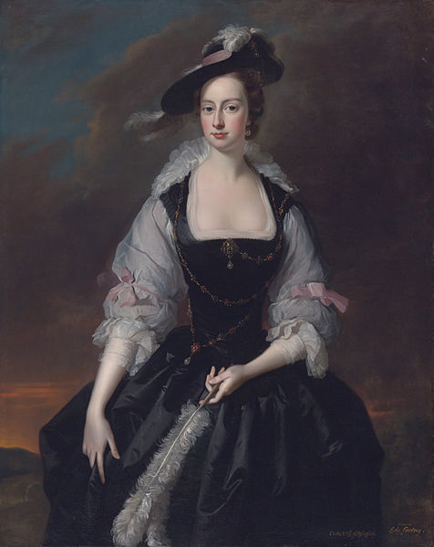 Thomas Hudson - Portrait Of Lady Frances Courtenay