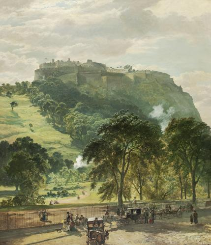 Samuel_Bough_Edinburgh_Castle_from_Princes_Street